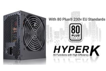 FSP 600W HYPER K, 85% Efficiency, Active PFC,  PCI-E 8PIN x 2, SATA Array, Quiet Cooling, Single 12V Rail Design
