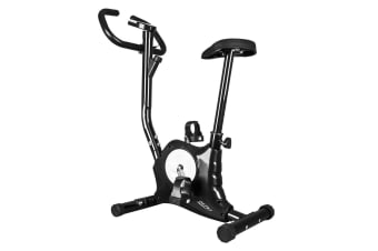 New Genki Belt Bike Excercise Bike Cardio Equipment Upright Spin Bike Black