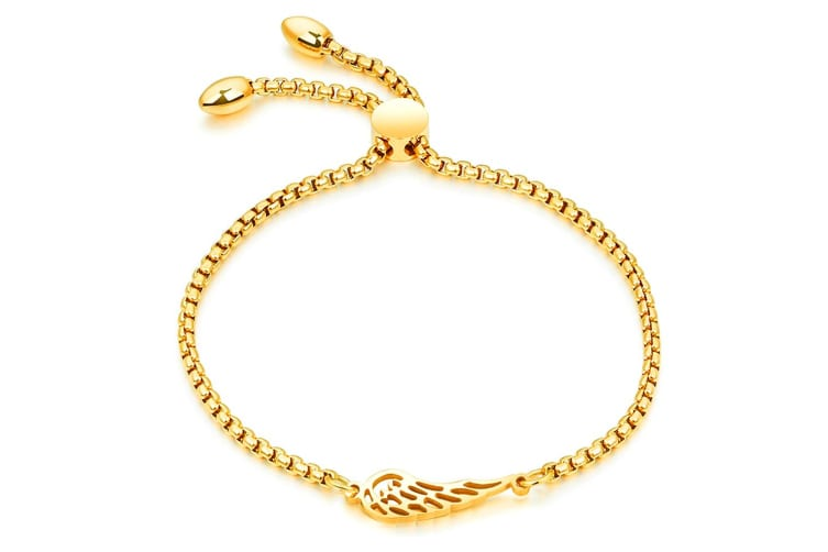 Solo Wing Charm Bracelet|Yellow Gold