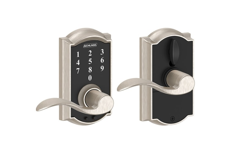 Schlage Touch Keyless Touchscreen Lever with Camelot Trim and Accent Lever (Satin Nickel)