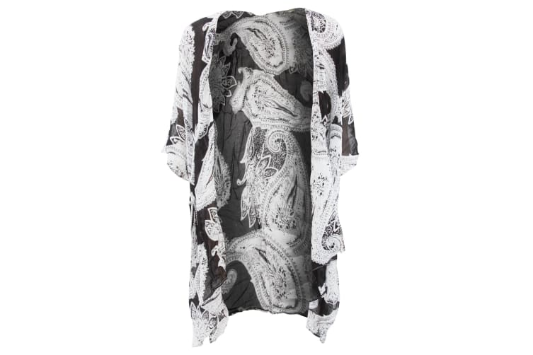 Womens/Ladies Short Sleeve Summer Cardigan With Paisley/Aztec Design (Paisley) (One Size)