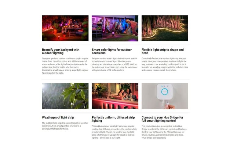 Philips Hue Lightstrip Indoor/Outdoor 5m White/Colour Ambiance LED Light Strip