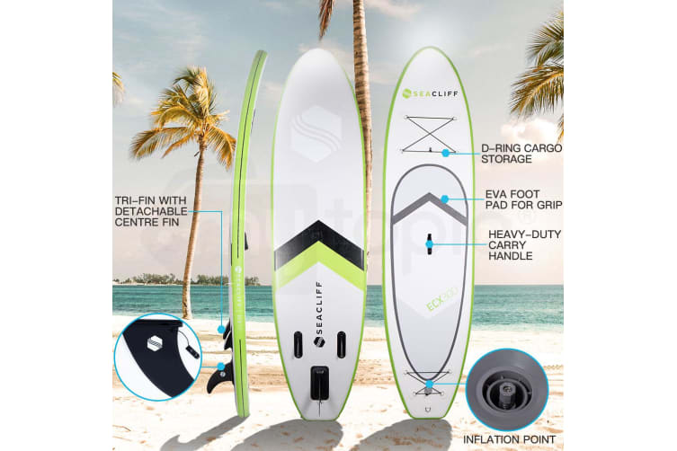 SEACLIFF Stand Up Paddle Board Inflatable SUP Paddleboard Surf Board Blow Green