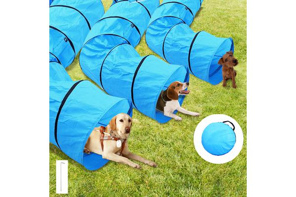 Long Waterproof Pet Dog Agility Training Exercise Tunnel With Carry Bag 40cm x 3m