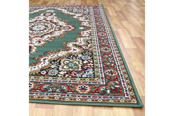 Traditional Medallion Rug Green 330x240cm