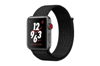 Apple Watch Series 3 (Space Grey, 38mm, Black/Pure Platinum Nike Sport Loop, GPS + Cellular)