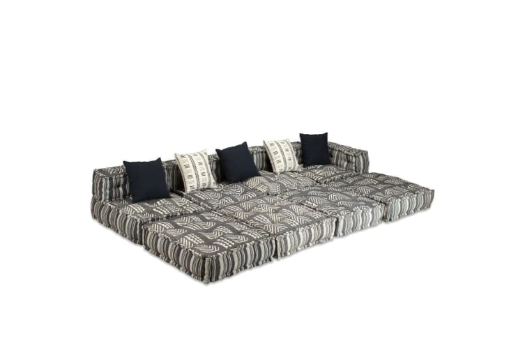 vidaXL 4-Seater Modular Sofa Bed Fabric Stripe