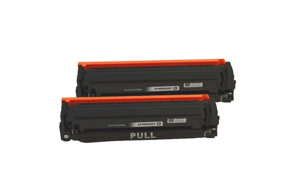 CF400A #201A Premium Generic Black Toner Cartridge (Two Pack)