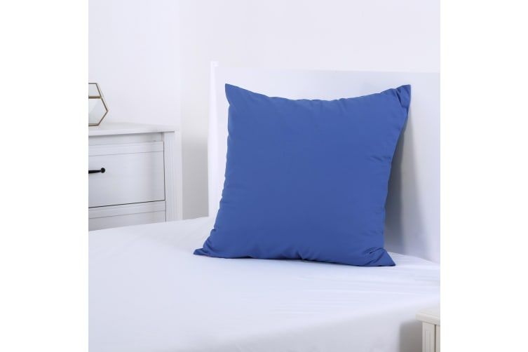Dreamaker 250TC Plain Dyed European Pillowcase - 65X65cm Marine