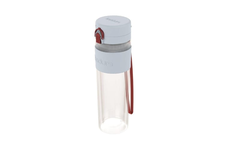 Bodum Bistro Double Wall Drink Bottle with Strap 500ml Pastel Blue