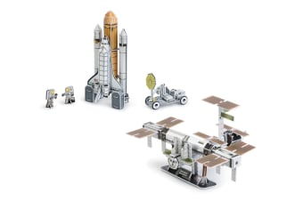 Space Shuttle Discover & International Space Station 3D Puzzle Combo