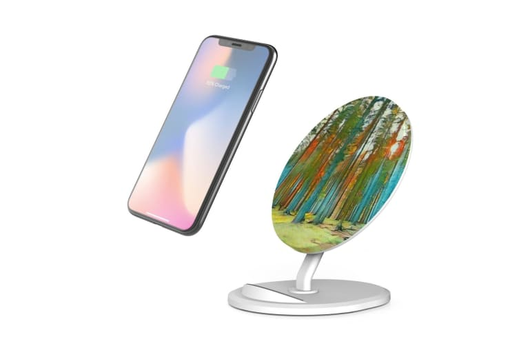 QI Wireless Charger For iPhone 11 Samsung Galaxy S20+ S20 Ultra Note 10+ Forest
