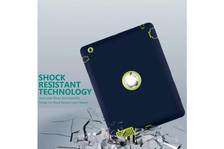 Heavy Duty Shockproof Case Cover For iPad Air/iPad 5-Navy Blue/Green