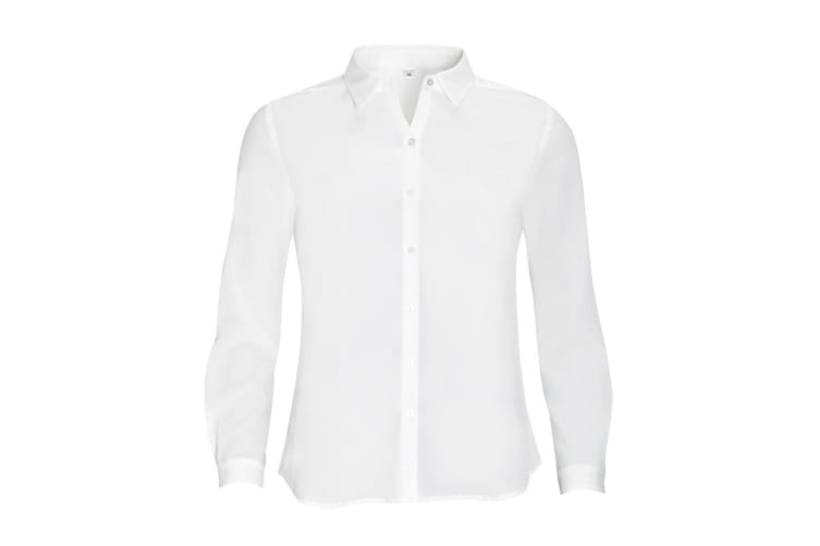 SOLS Womens/Ladies Betty Long Sleeve Blouse/Shirt (Off White) (M)