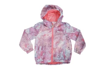 Bench Childrens Girls Magical Long Sleeve Showerproof Hooded Jacket (Lilac/Pink)