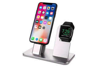 Aluminum Alloy Mobile Phone Charging Bracket Watch Charger Silver