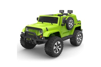 Kids Ride on Jeep Truck Off Road Car 12V Remote Electric Children Toy - Green