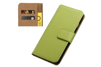 For iPhone 8 7 Wallet Case Elegant Slim Leather Cover with Card Holder Green