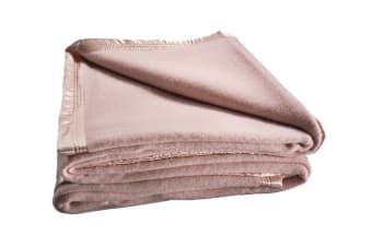 Bianca 480GSM Wool Blanket (Single/Dusty Pink)