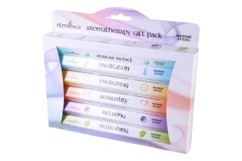 Elements Aromatherapy Incense Gift Pack (Box Of 6 Packs) (Multicoloured)