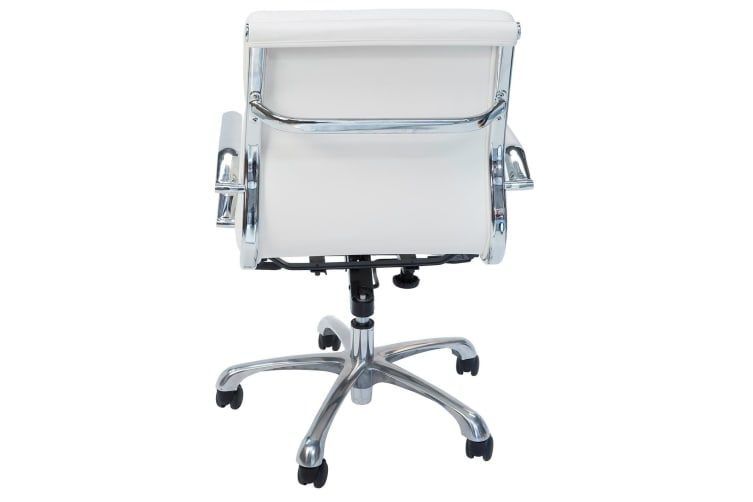 Eames Inspired Low Back Soft Pad Management Desk / Office Chair | White