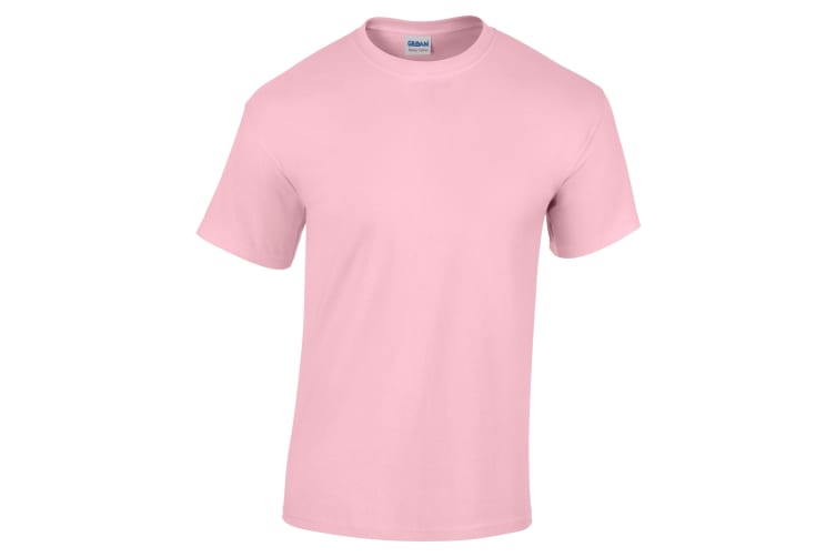 Gildan Childrens Unisex Heavy Cotton T-Shirt (Pack Of 2) (Light Pink) (S)