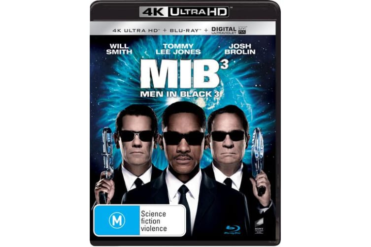 Men in Black 3 4K Ultra HD Blu-ray Digital Download UHD Region B