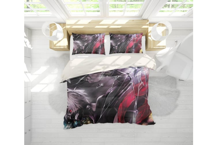 3D Anime Mask Ghoul Quilt Cover Set Bedding Set Pillowcases 53-Queen
