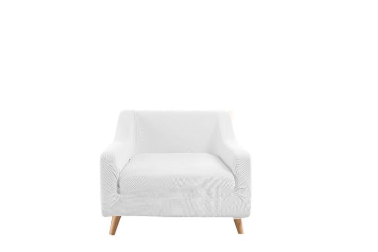 Dreamz Couch Stretch Sofa Lounge Cover Protector Slipcover 1 Seater Off white AU