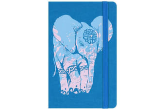 Unorthodox Collective Elephant A6 Hard Cover Notebook (Blue)