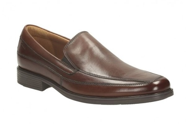 Clarks Men's Tilden Free Dress Shoe (Brown Leather, Size 9 US)