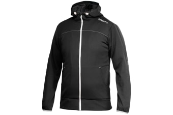 Craft Mens Leisure Athletic Full Zip Hoodie Jacket (Black)
