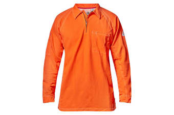 Hard Yakka Men's Bulwark iQ Flame Resistant Hi-Vis Polo - Orange