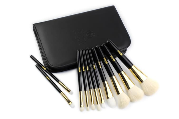 11Pcs Makeup Brushes Pu Zipper Packing Makeup Tools