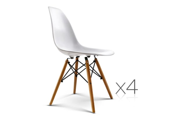 Set Of 4 Replica Eames Eiffel Dining Chairs (White)