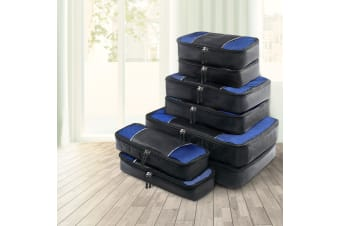 8PCS Luggage Organiser Suitcase Sets Travel Packing Cubes Pouch Bag