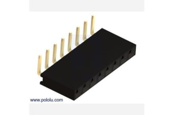 "0.100"" (2.54 mm) Female Header: 1x8-Pin, Right-Angle"