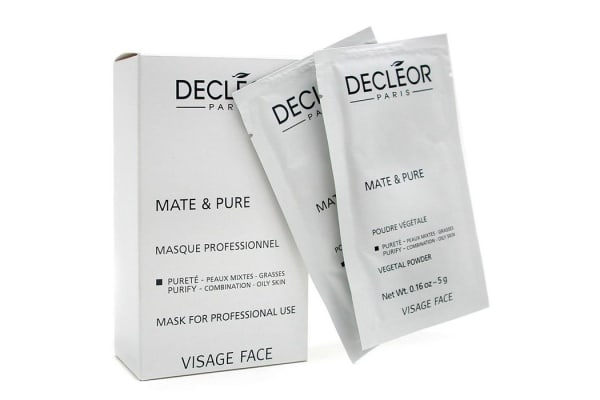 Decleor Mate & Pure Mask Vegetal Powder - Combination to Oily Skin (Salon Size) (10x5g)