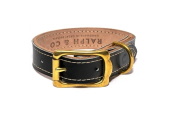 Ralph & Co Leather Dog Collar (Black)