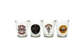 Guns N Roses Official Shot Glass Set (Pack Of 4) (Clear) (One Size)