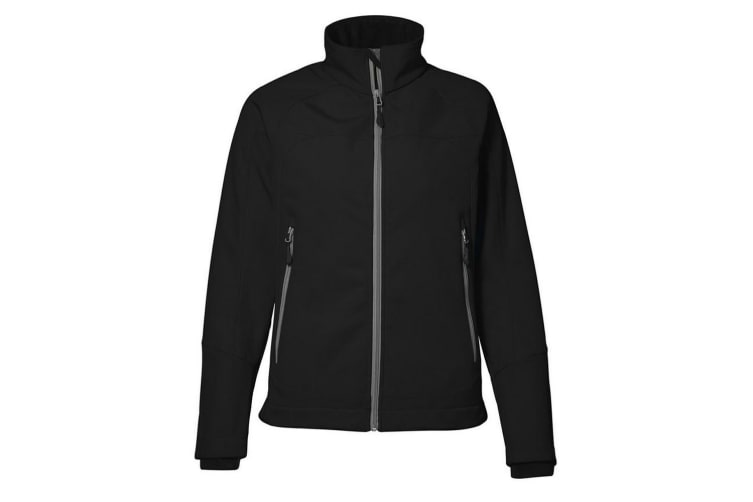ID Womens/Ladies Functional Full Zip Regular Fitted Soft Shell Jacket (Black) (3XL)