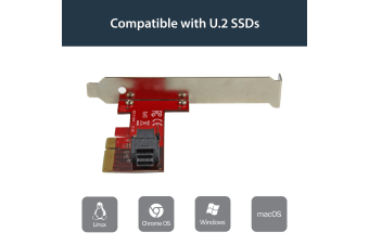 StarTech.com x4 PCI Express to SFF-8643 Adapter for PCIe NVMe U.2 SSD