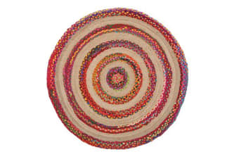 April Target Cotton and Jute Rug Multi 200x200cm