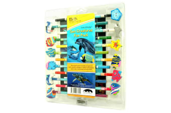 Garry Fleming - Set Of 12 Pencils With Book And Sharpener (Sea Life)