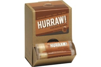 Hurraw! Lip Balm Root Beer 4.3g x 24 Display