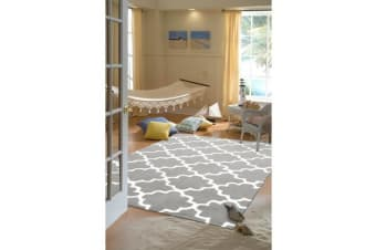 Kids Trellis Design Rug Grey 165x115cm