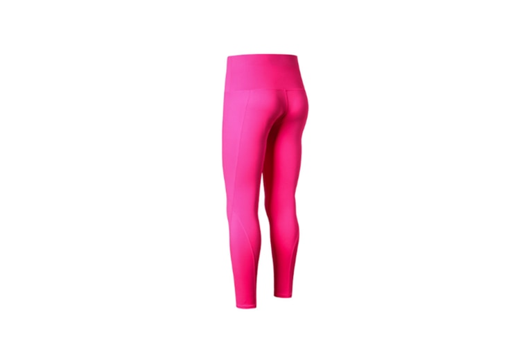 High Waist Yoga Pants With Pockets,Tummy Control,Workout Pants For Women - Rose Red Red XL