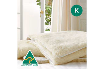 King Size Aus Made Strap Fitted Wool Underlay
