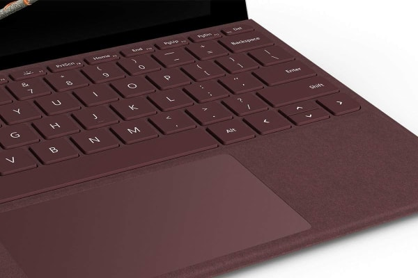 Microsoft Surface Go Signature Type Cover (Burgundy)