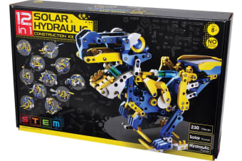 Stem 12-in-1 Solar Hydraulic Construction Kit Suitable for Children Aged 8- over